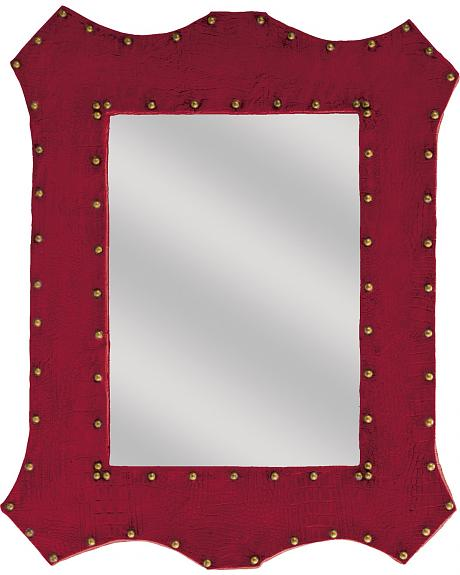 Montana Silversmiths Red Faux Alligator Studded Mirror