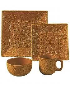 HiEnd Accents Savannah Mustard Dinnerware Set