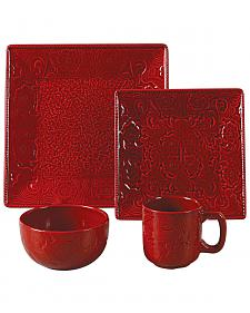 Savannah Red Dinnerware Set