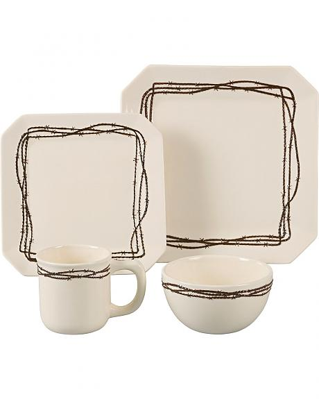HiEnd Accents Barbed Wire Dinnerware Set - 16 piece