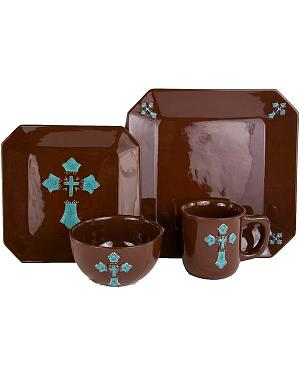 HiEnd Accents Cross Dinnerware Set