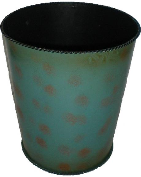 HiEnd Accents Turquoise with Roped Edges Wastebasket