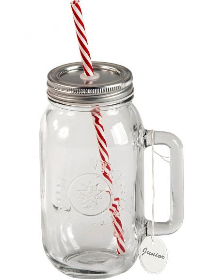 Redneck Country Wine Glass with Handle & Straw - 24 oz.