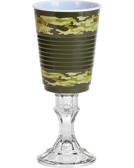 Green Camo Party Cup on Stem