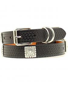 Embossed Basketweave Dog Collar - XS-XL