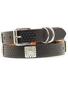 Embossed Basketweave Dog Collar - XS-XL