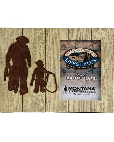 Montana Silversmiths Gone Roping Father & Son Photo Frame - 5