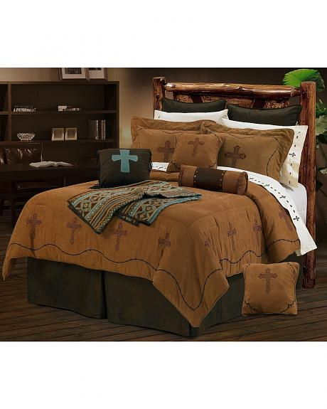 HiEnd Accents Crosses Twin Bedding Set