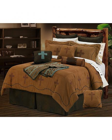 HiEnd Accents Crosses Queen Size Bedding Set