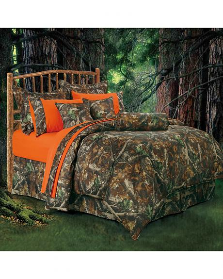 HiEnd Accents Oak Camo Queen Size Comforter Set