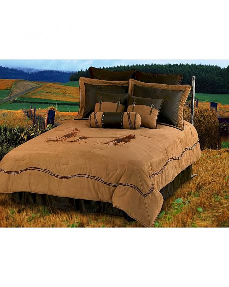 HiEnd Accents Team Roping Queen Size Bedding Set