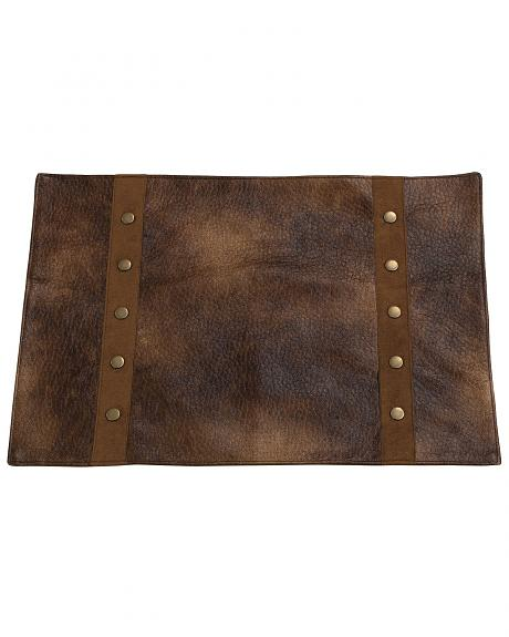 HiEnd Accents Rustic Faux Leather Placemats