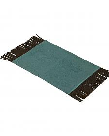 HiEnd Accents Turquoise Tooled Faux Leather Placemats