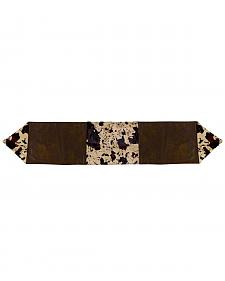 HiEnd Accents Faux Cowhide Table Runner