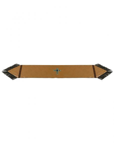HiEnd Accents Tan Faux Leather Table Runner