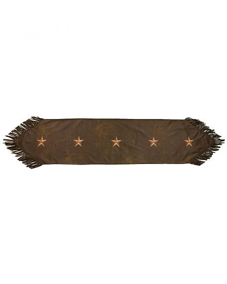 HiEnd Accents Embroidered Star Table Runner