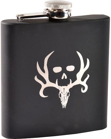 Bone Collector Rubber Grip Stainless Steel Flask