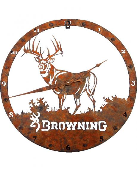 Browning Metal Buck Wall Clock