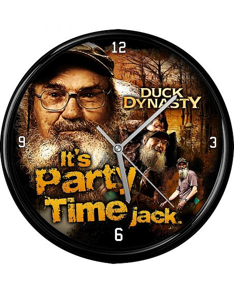 Duck Dynasty It's Party Time Jack Wall Clock