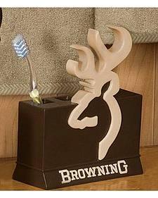 Browning Toothbrush Holder