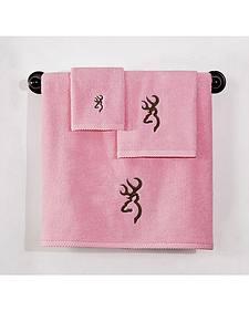 Browning Buckmark Pink Hand Towel