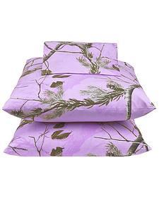 Realtree Lavender Camo Queen Sheet Set