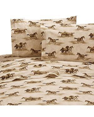 Karin Maki Wild Horses Queen Sheet Set