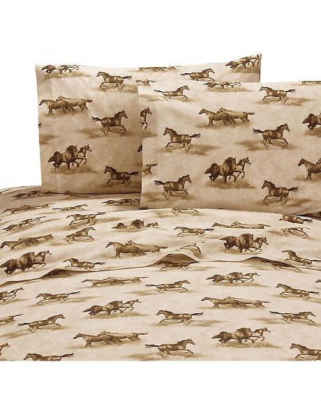 Karin Maki Wild Horses Queen Sheet Set