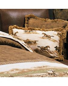 Karin Maki Wild Horses Oblong Throw Pillow