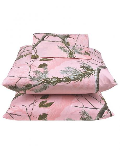 Realtree All Purpose Pink Queen Sheet Set