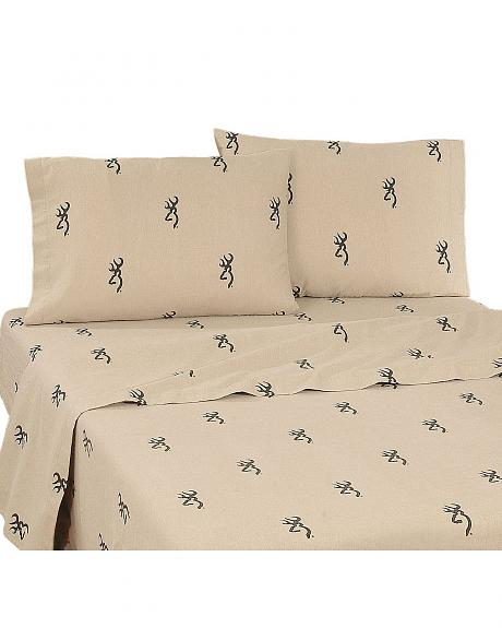 Buckmark Twin Sheet Set