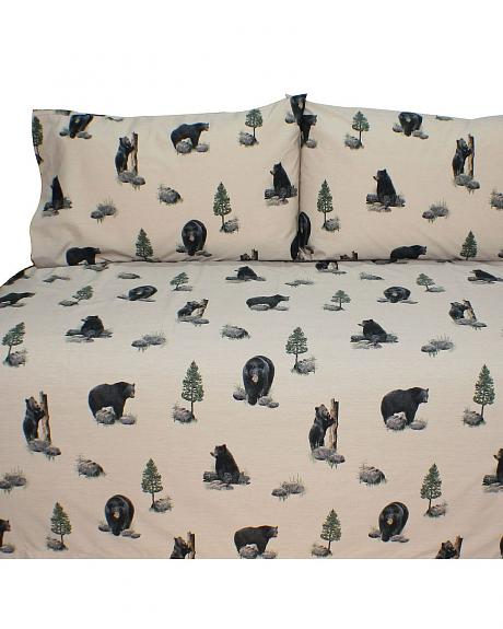 Blue Ridge Trading Bears Queen Sheet Set