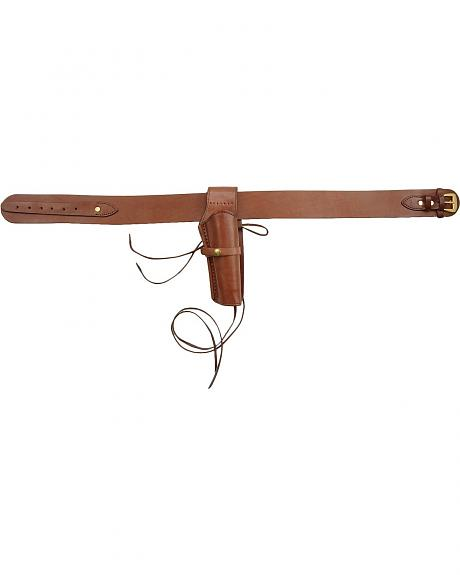 Leather Belt with Holster - Extended Sizes