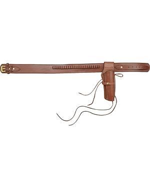 Leather .22 Caliber Gun Belt & Holster