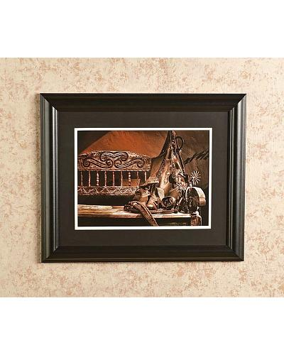 """Western Attire on Bench Photo 16"""" x 20"""" Western & Country GBA87114"""