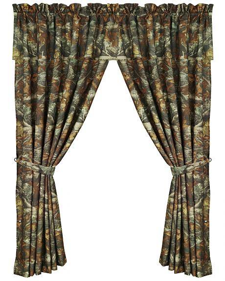 HiEnd Accents Realtree Camouflage Curtain
