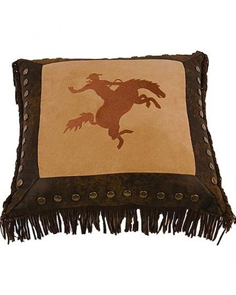 HiEnd Accents Bucking Bronco Pillow
