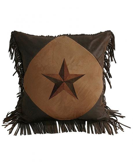 HiEnd Accents Fringe Star Pillow