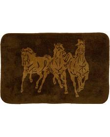 HiEnd Accents Three Horses Bathroom Rug