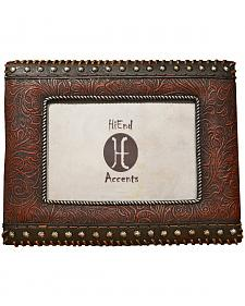 """HiEnd Accents Tooled Leather Look Photo Frame - 4"""" x 6"""""""