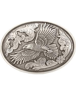 Antiqued Soaring Eagle Belt Buckle