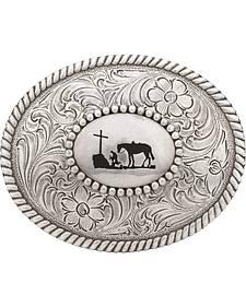 Nocona Cowboy Prayer Belt Buckle