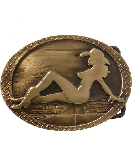 Montana Silversmiths Mud Flap Cowgirl Belt Buckle
