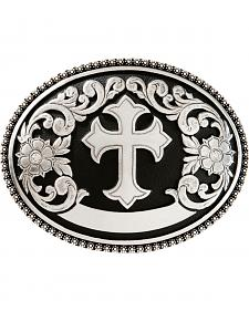Nocona Floral Cross Belt Buckle