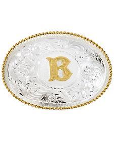 "Montana Silversmiths Initial ""B"" Buckle"