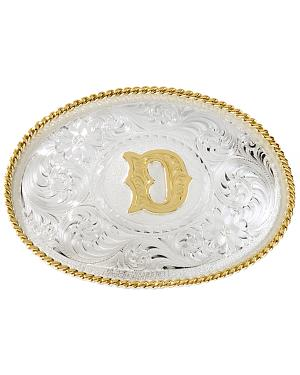 "Montana Silversmiths Initial ""D"" Buckle"