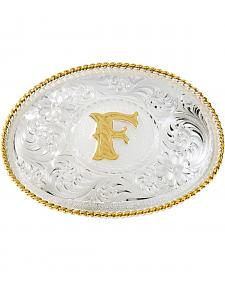 "Montana Silversmiths Initial ""F"" Buckle"
