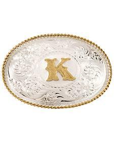 "Montana Silversmiths Initial ""K"" Buckle"