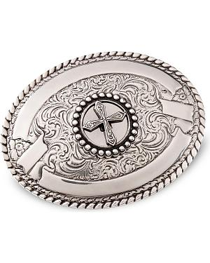 Cross Silver-Plated Belt Buckle
