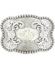 Nocona Rectangle Horse Head Buckle